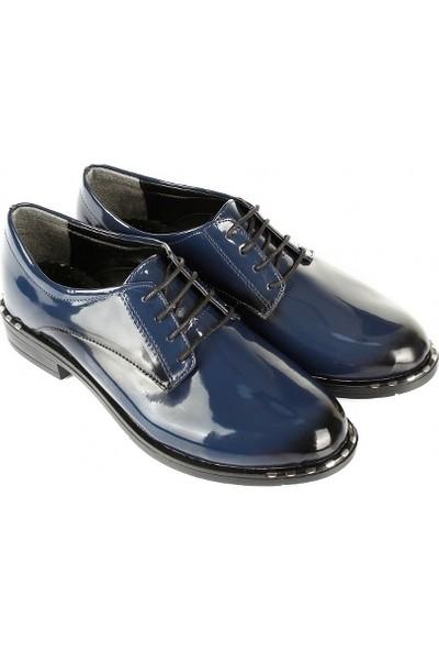 Gön Kadın Ayakkabı 37107 Lacivert Rugan