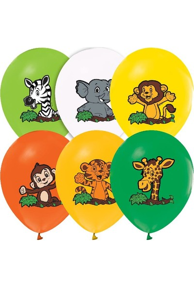 Kikajoy Safari Baskılı Pastel Balon 100'lü