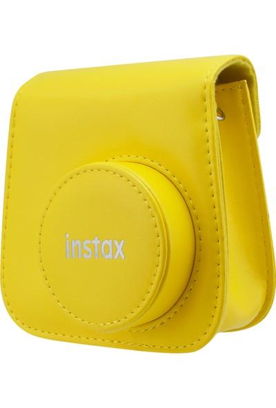 Instax Mini 9 Sarı Deri Çanta