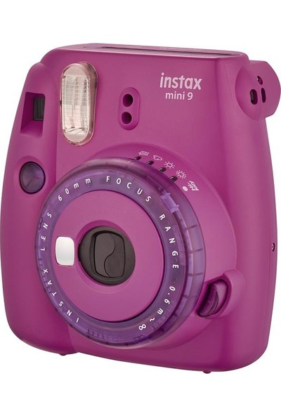 Instax Mini 9 Mor Fotoğraf Makinesi + Çanta Set 5