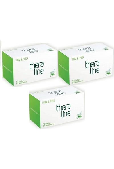 Theraline Form Detox Bitki Çayı ( 3 Kutu ) + Giftpoint Ayaklı Buzdolabı Magnetli Resim Çerçevesi (1 Adet)