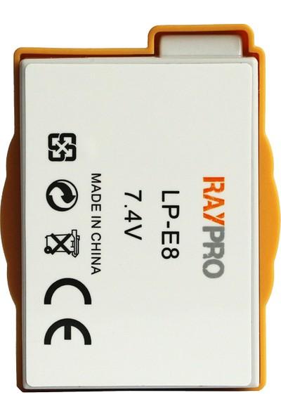 Raypro Canon Eos 550D 600D 650D 700D Için Lp-E8 Batarya Pil