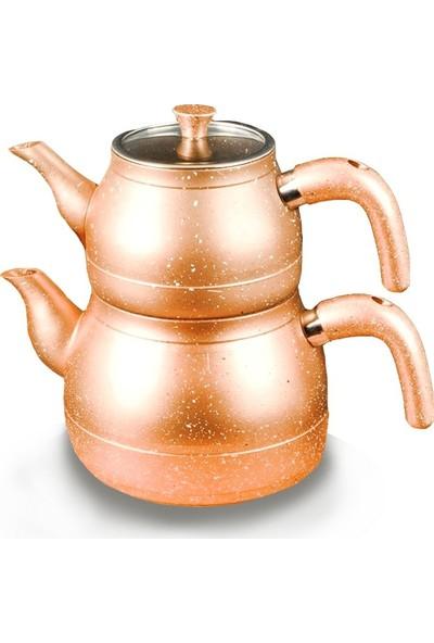 Paçi MTL-200471 Gold Bakalit Kulplu Granit Çaydanlık