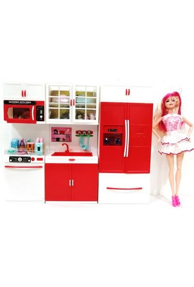 Kayyum Oyuncak My Lıttle Chefs 3'lü Eklemli Et Bebek ve Mutfak Seti Pembe Bulaşık Makineli