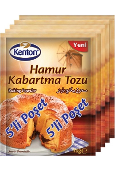 Kenton Hamur Kabartma Tozu 10 gr 5 Li Paket
