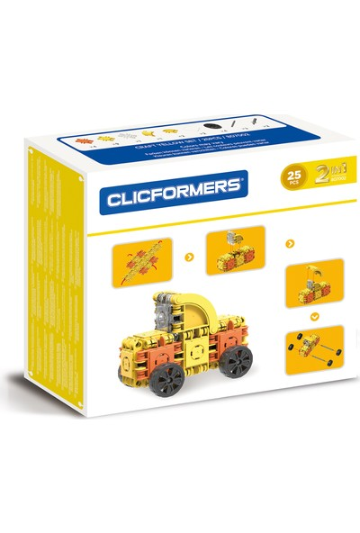 Clicformers Craft Set Yellow 25 Parça