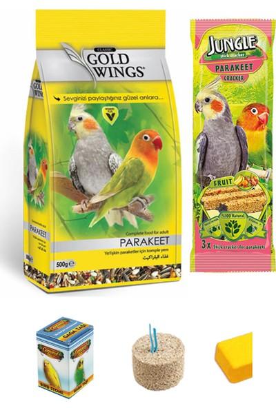 Gold Wings Paraket Sultan Cennet Papağanı Yem ve Bakım Seti 500 g Eko