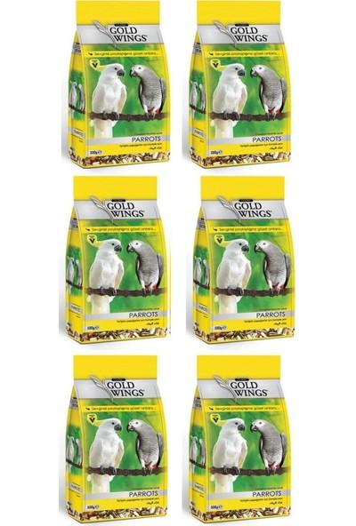 Gold Wings Classic Papağan Jako Gri Amazon Yemi 500 g x 6 Adet