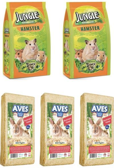 Jungle Hamster Yemi 500 g 2 Adet - Kemirgen Talaşı 3 Adet