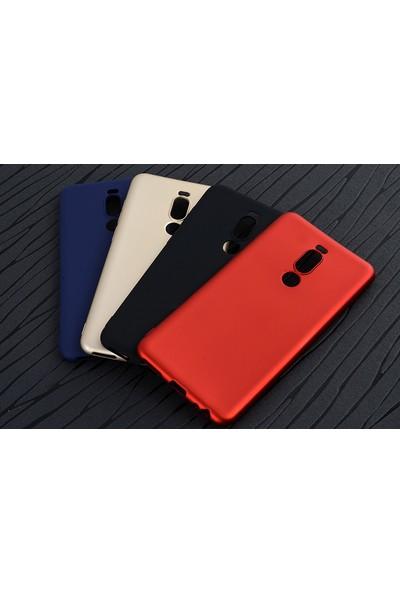 Happyshop Meizu Note 8 Kılıf Ultra İnce Mat Silikon + Cam Ekran Koruyucu Gold