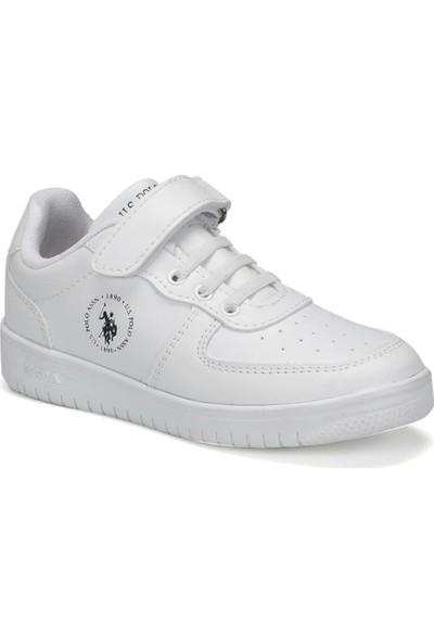 U.S. Polo Assn. Dımler 9Pr Beyaz Erkek Çocuk Sneaker Ayakkabı