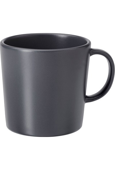 Ikea Dınera Koyu Gri Kupa 300 ml