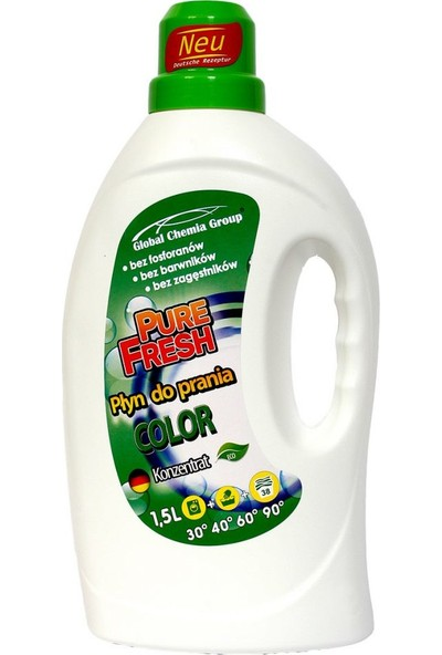 Pure Fresh Renkli Çamaşırlar Sıvı Deterjan 38 Yıkama 1,5 lt