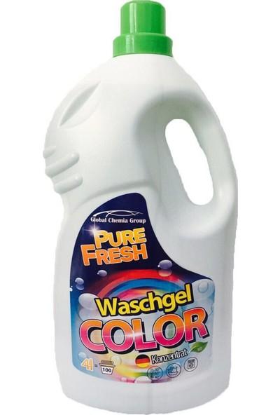 Pure Fresh Renkli Çamaşırlar Sıvı Deterjan 100 Yıkama 4 lt
