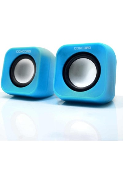Concord C-799 1+1 Mini USB PC Speaker - Mavi
