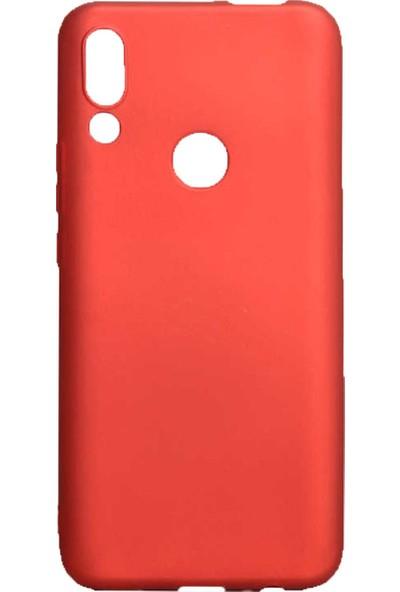 Microcase Huawei P Smart Z Premium Matte Silikon Kılıf - Kırmızı