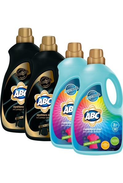 ABC Sıvı Deterjan 3 lt Siyah 2'li + Renkli 2'li