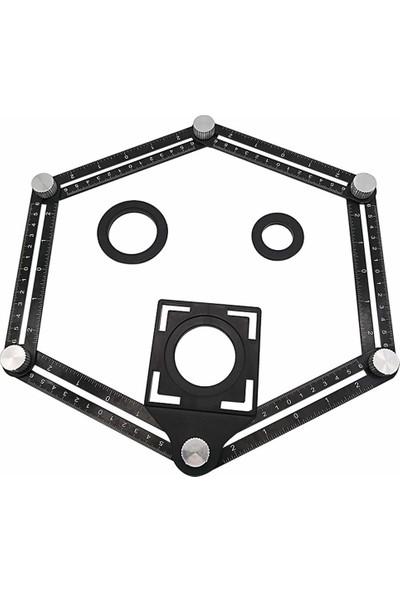 Titi 3302 Çok Fonksiyonlu Alüminyum Delik Ayarlayıcı Şablon Cetveli