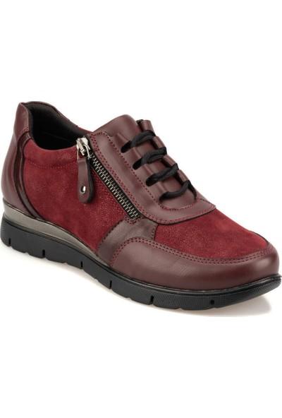 Travel Soft Trv920063 Bordo Kadın Sneaker Ayakkabı