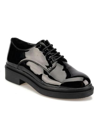 Polaris 92.314906.Z Siyah Kadın Oxford Ayakkabı