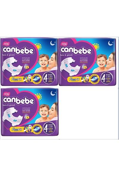 Canbebe Bebek Bezi 4 Beden Maxi 40'lı x 3 Paket 120 Adet