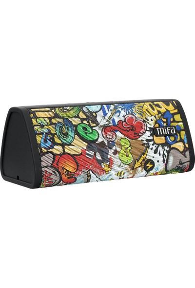 Mifa A10 Taşınabilir Kablosuz Bluetooth Hoparlör - 10W - IP45 Suya Dayanıklı - TWS - Graffiti