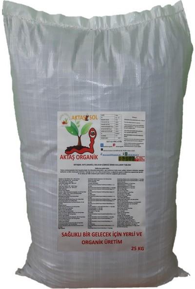 Aktaşsol Organik Katı Solucan Gübresi 25 kg