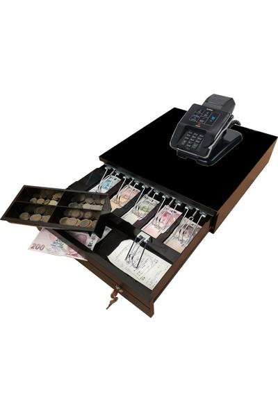 Saypos Büyük Para Çekmecesi MX915 Yazar Kasa Uyumlu ve Askı Aparatı 5 Banknot ve Slip Bölmeli Yazarkasa Altı