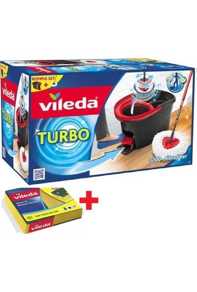 Vileda Turbo Pedallı Temizlik Seti +Vileda Bulaşık Süngeri 1 Paket Hediye