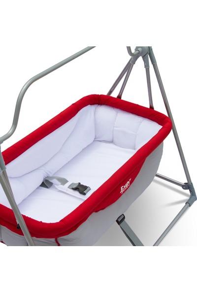 Exor Baby Portatif Bebek Beşiği - Hamağı / Kırmızı-Gri