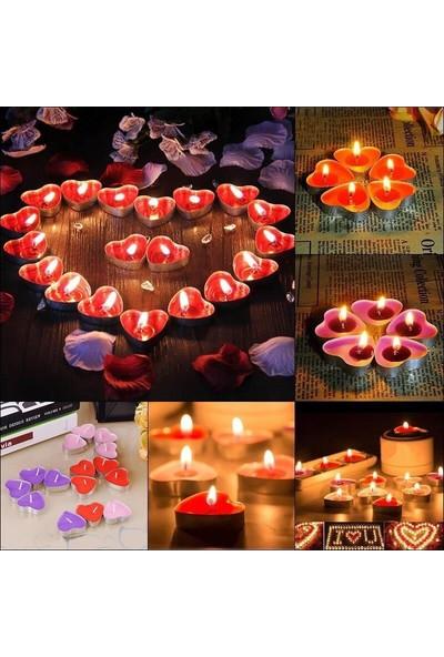 Pandoli Kalpli Tea Lights Mum 50 Adet Kırmızı Renk