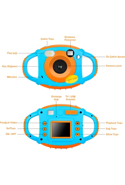VRPRO 5MP HD Eğitici Çocuk Aksiyon Kamera Fotoğraf Makinesi