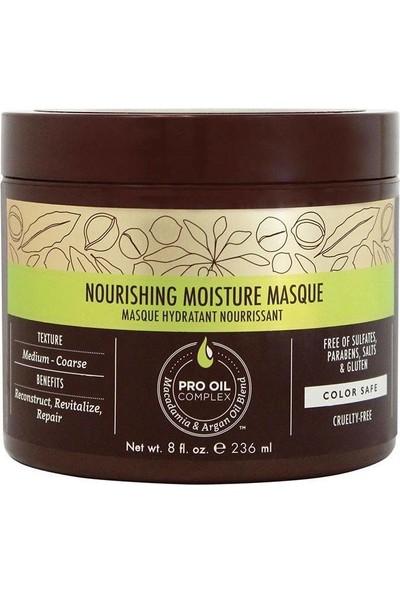 Macadamia Professional Kuru ve Yıpranmış Saçlar İçin Nemlendirici Maske 236 ml