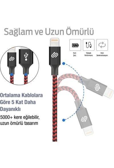 Qspeed Hızlı USB Lightning Kablo iPhone/iPad Uyumlu – 3'lü Set