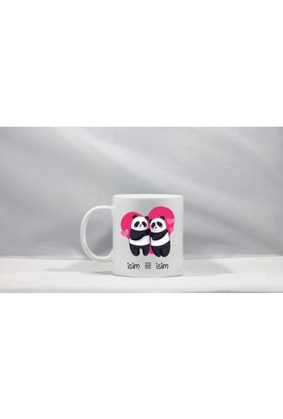 Tasarım Mağazası Panda Bes Frıends Kişiye Özel Seramik Kupa Bardak