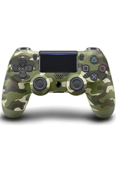 Kontorland PS4 Dualshock 4 V2 Yeşil Kamuflaj Joystick Kol