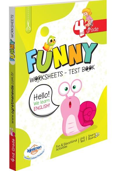 Öğretmen Evde Yayınları Öğretmen Evde 4. Sınıf Ingilizce Funny Worksheets & Test Book