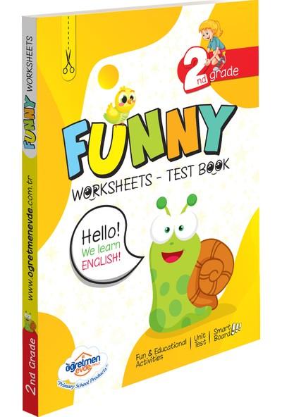 Öğretmen Evde Yayınları Öğretmen Evde 2. Sınıf Ingilizce Funny Worksheets & Test Book