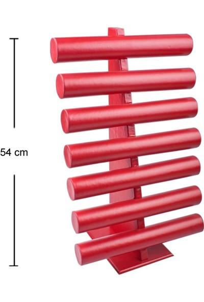 Aydın Dekor Deri Yedili Kırmızı Bileklik-Saat Dekor Standı (Aydindecor)