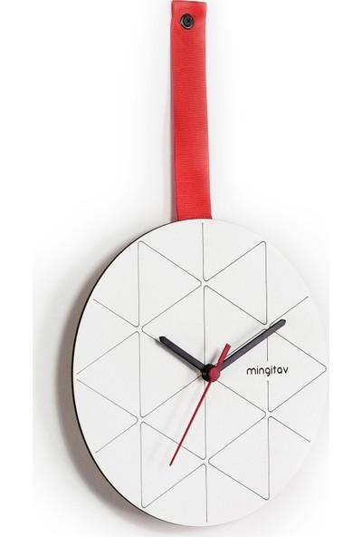 Mingitav Minuet Duvar Saati (Kırmızı)