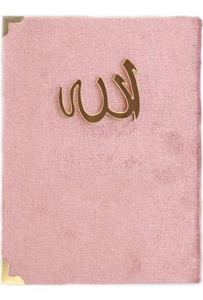 Bilenler Kadife Kumaş Kaplı Yasin Kitabı Allah Lafızı Pembe 20 ' Li