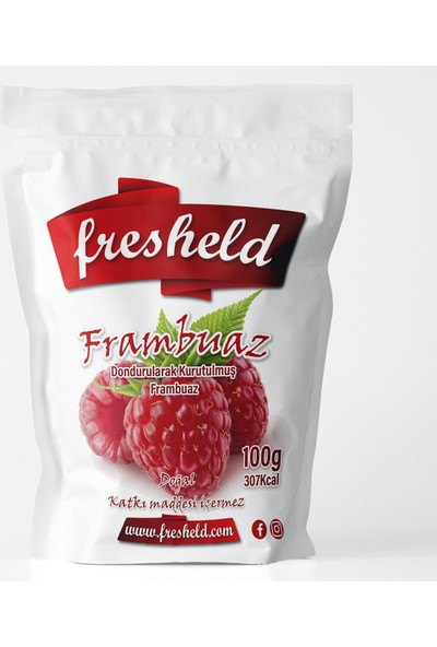 Fresheld Dondurularak Kurutulmuş Frambuaz 100 gr