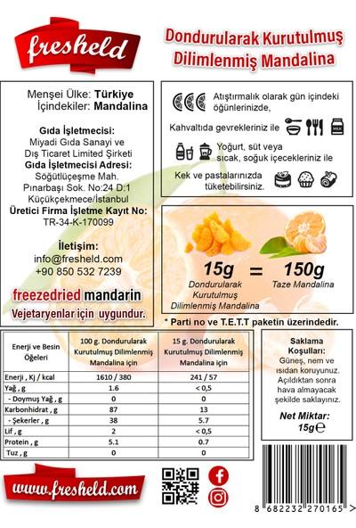 Fresheld Dondurularak Kurutulmuş Dilimlenmiş Mandalina 15 gr