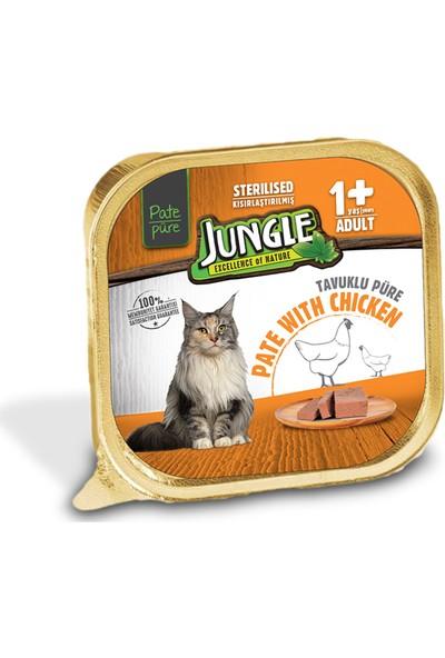 Jungle Ezme Tavuklu Kısırlaştırılmış Kedi Maması 100 gr(32'li)