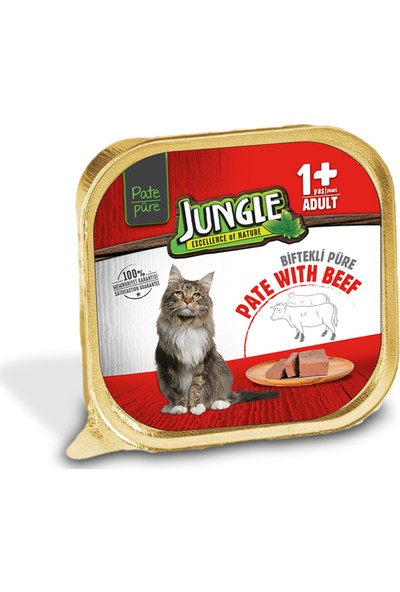Jungle Jungle Dana Etli Ezme Kedi Maması 100 gr (32'li)