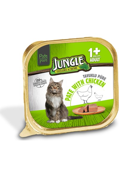 Jungle Tavuklu Ezme Kedi Maması 100 gr (32'li)
