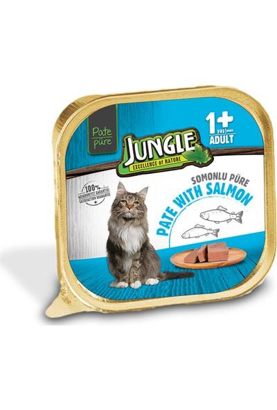 Jungle Balıklı Ezme Kedi Maması 100 gr (32'li)