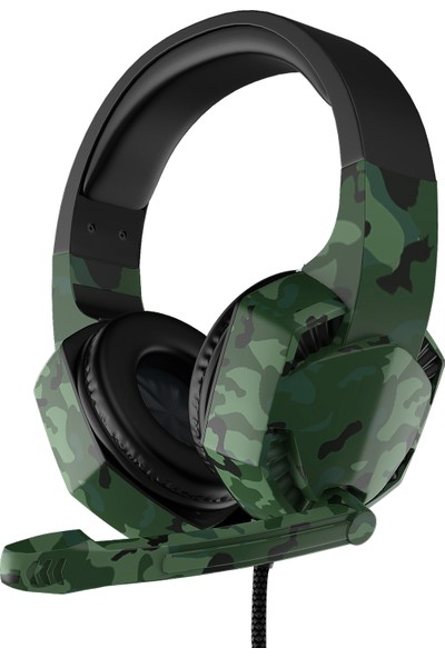 Tucci A3 Gaming Oyuncu Kablolu Mikrofonlu Kulaklık Kamuflaj