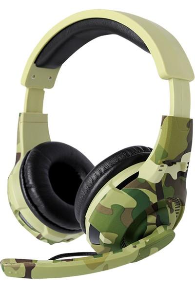 Tucci A4 Gaming Oyuncu Kablolu Mikrofonlu Kulaklık Kamuflaj