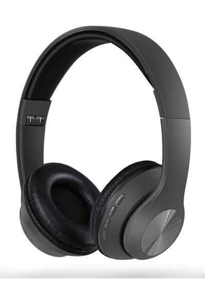 Tucci TC999 Kablosuz Kulaküstü Kulaklık Gri